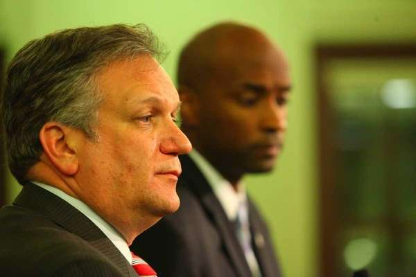 Nassau County Executive Edward Mangano and Incoming Minority