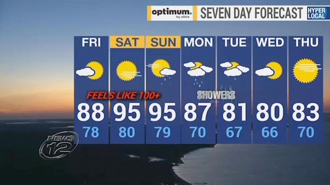 A heat advisory begins Friday at noon and