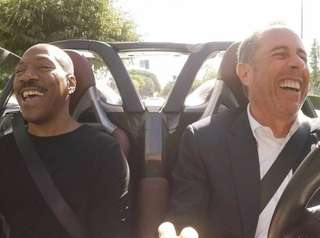 Eddie Murphy, left, and Jerry Seinfeld have a