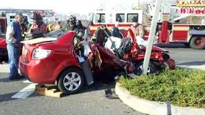 One woman died Monday after an accident on