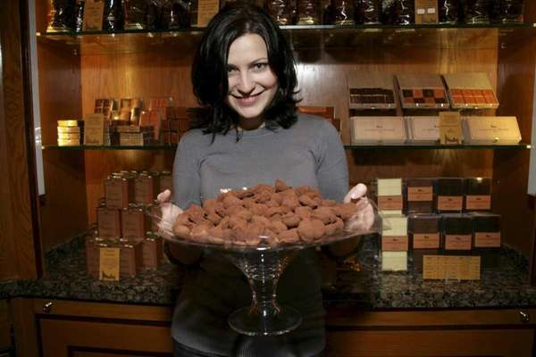 New York Chocolate Tours owner Carmen Santorelli poses