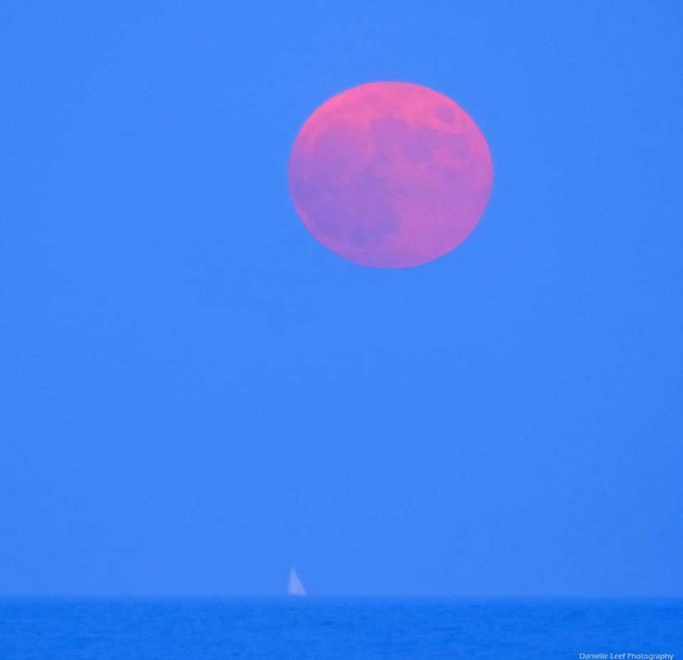 Capturing the Thunder Moon at Mecox Beach in