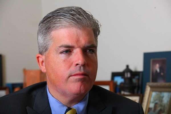 Newly elected Suffolk County Executive Steve Bellone speaks