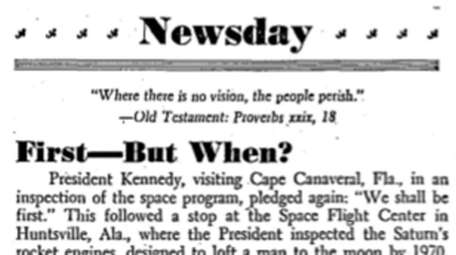 An editorial that ran in September 1962.