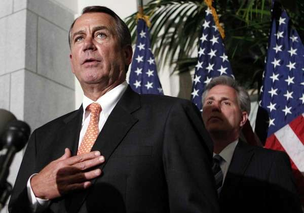 House Speaker John Boehner at a news conference