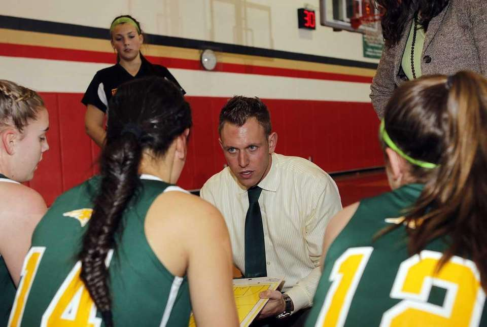 Ward Melville varsity girls basketball head coach Lawrence