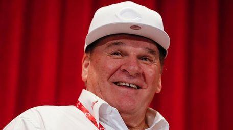 Former Cincinnati Reds player Pete Rose attends a