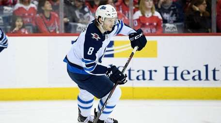 Winnipeg Jets defenseman Jacob Trouba against the Washington