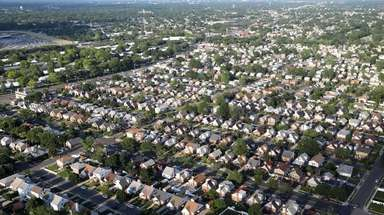 A neighborhood of houses in Elmont is seen