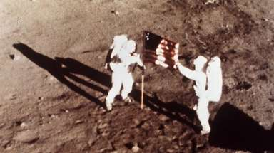 Apollo 11 astronauts Neil Armstrong and Edwin E.