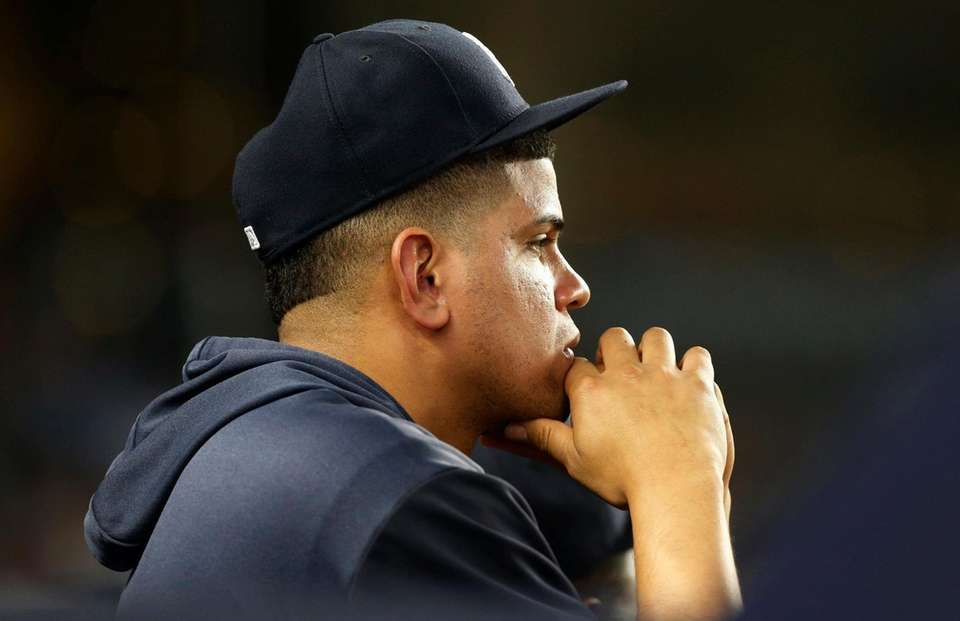 Dellin Betances of the New York Yankees looks