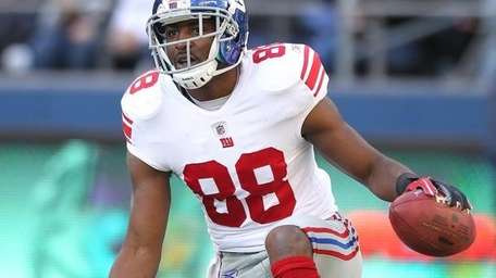 "HAKEEM NICKS Giants wide receiver ""He's a decent"