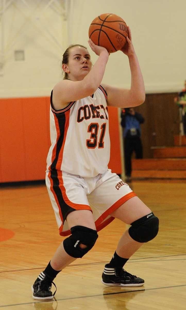 Hicksville's Caitlyn Garger shoots a foul shot against