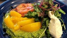 The burrata caprese salad at Leilu, a new