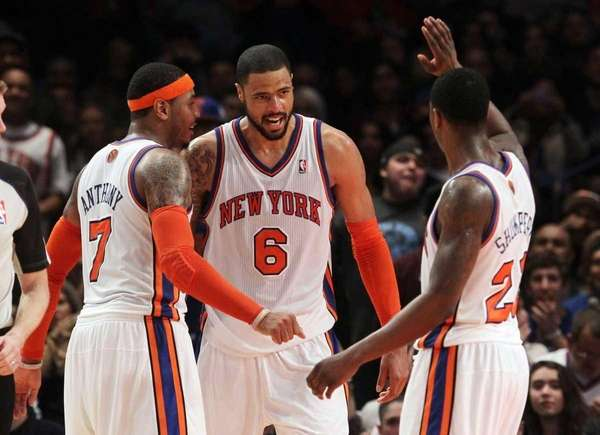 Tyson Chandler #6 of the New York Knicks