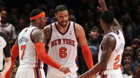 Tyson Chandler #6 of the New York Knicks
