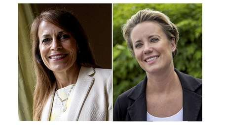 Jeanine Driscoll, left, candidate for Hempstead Town receiver