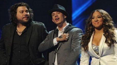 'The X Factor' Top 3 (L-R) Josh Krajcik,