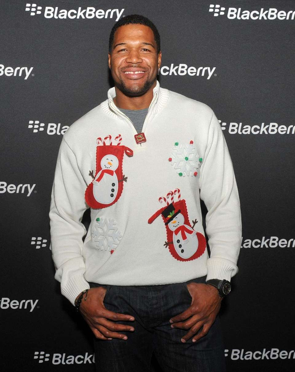 Michael Strahan at an Ugly Sweater Party hosted