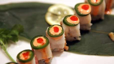 The Frank Roll is a sushi specialty served