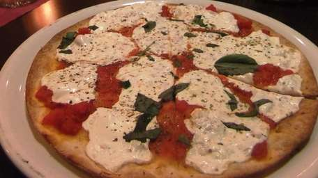 Margherita pizza at Spuntino in Dix Hills