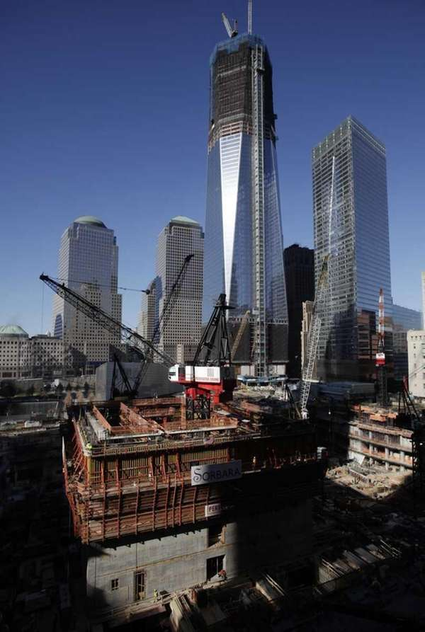 A file photo of construction at Tower Three,