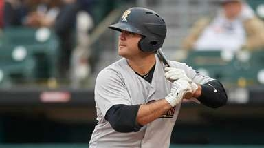 Scranton/Wilkes-Barre RailRiders Mike Ford (36) at bat during