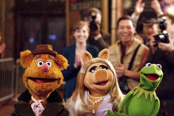 Fozzie Bear, Miss Piggy and Kermit the Frog