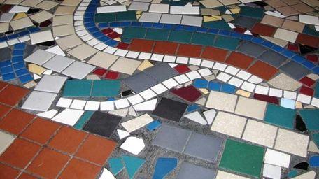 The floor at Pomodorino in Huntington is beautifully