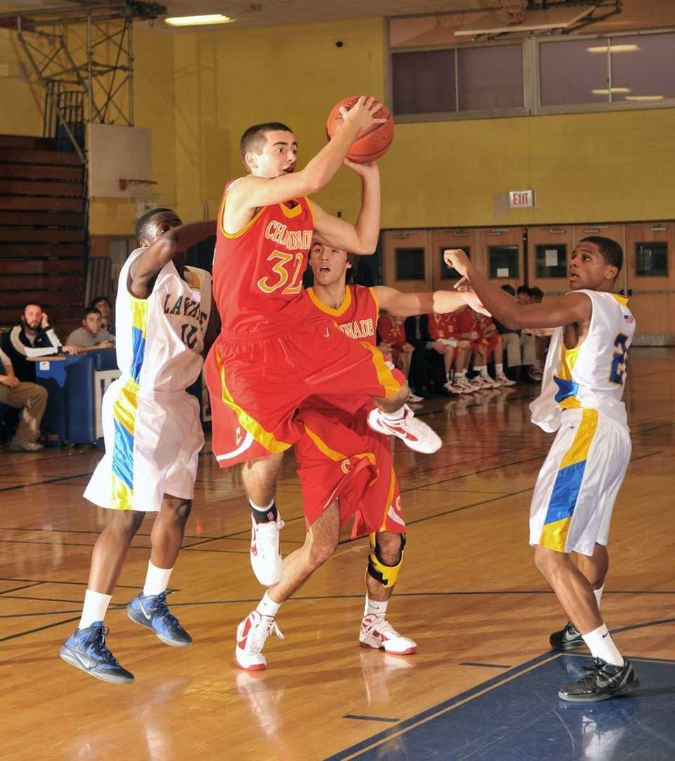 Chaminade's #32 John Galleso attempts a layup during
