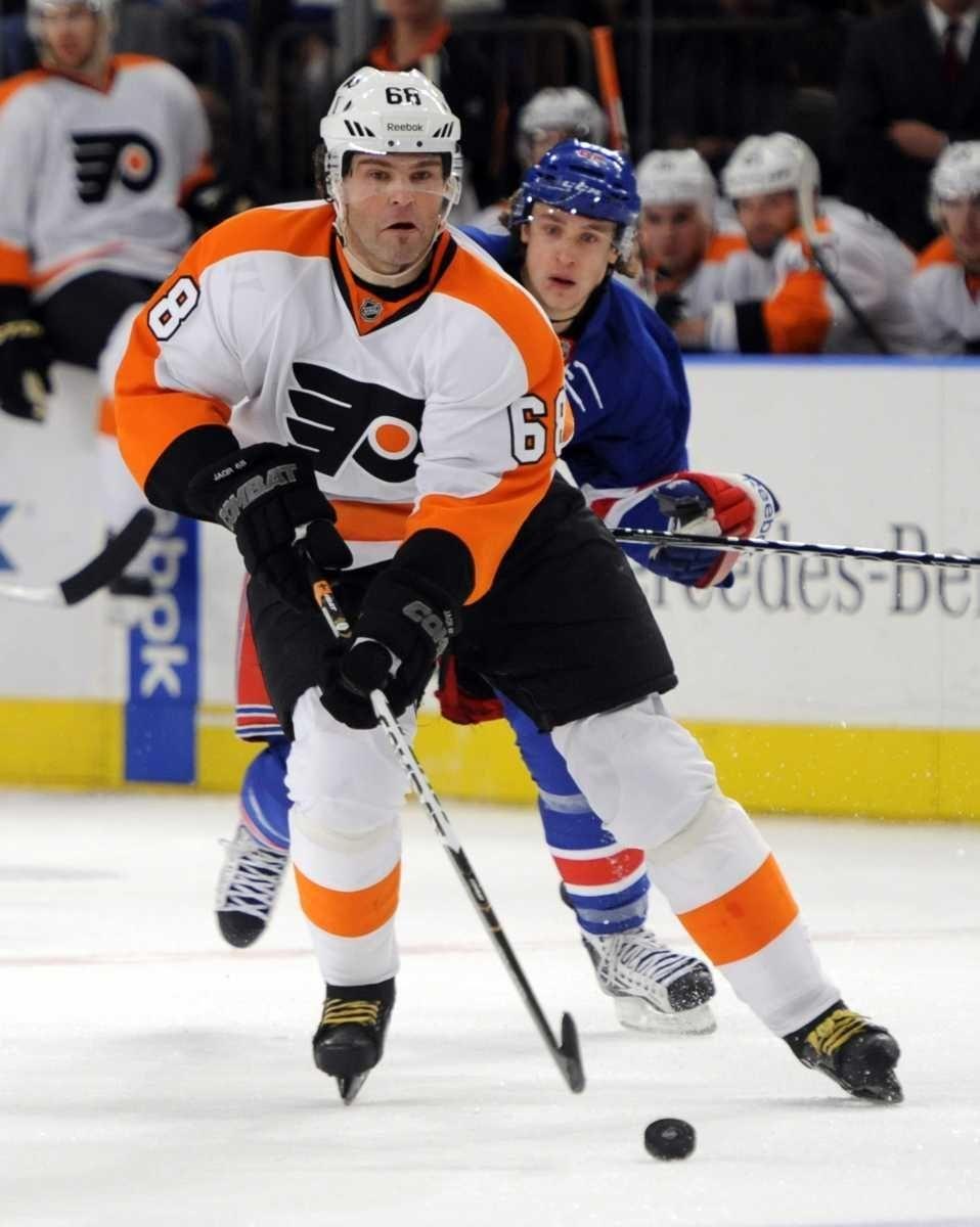 Philadelphia Flyers' Jaromir Jagr (68) skates past New