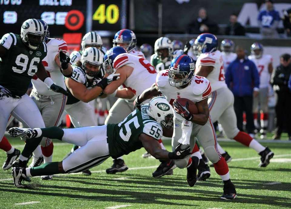 Jamaal Westerman #55 of the New York Jets