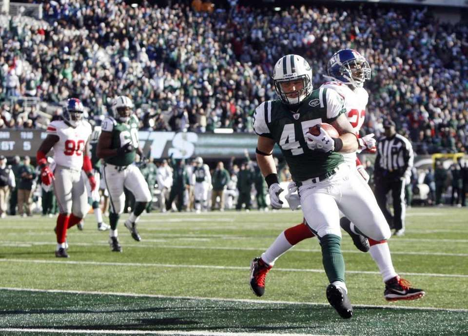 Josh Baker #45 of the New York Jets