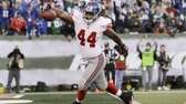 New York Giants' Ahmad Bradshaw steps in to