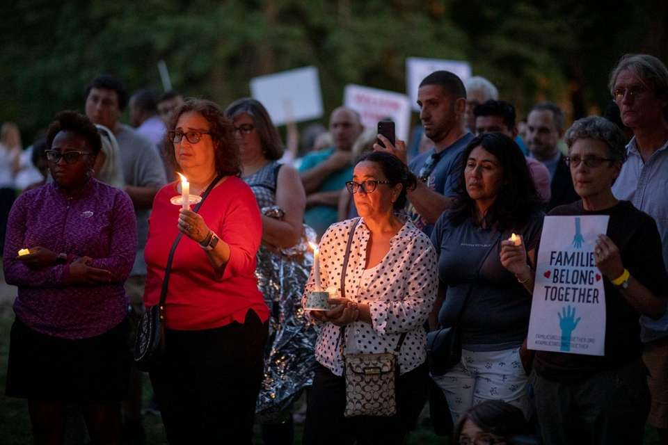 Huntington residents attend 'Lights for Liberty: A Vigil