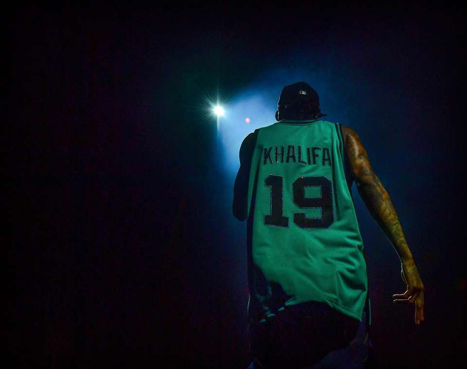 Wiz Khalifa performs at the Northwell Theater at