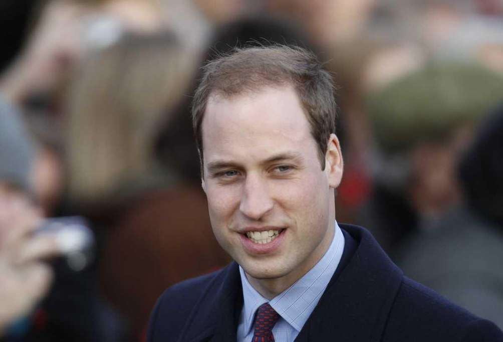 Britain's Prince William and other members of Britain's