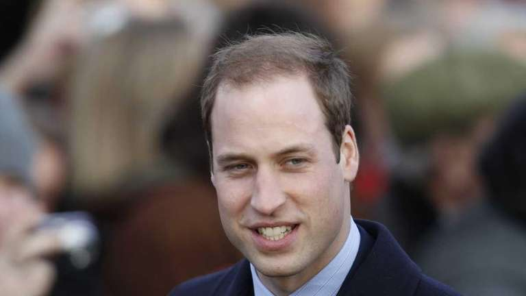 Prince William arrives for Christmas Service at St.