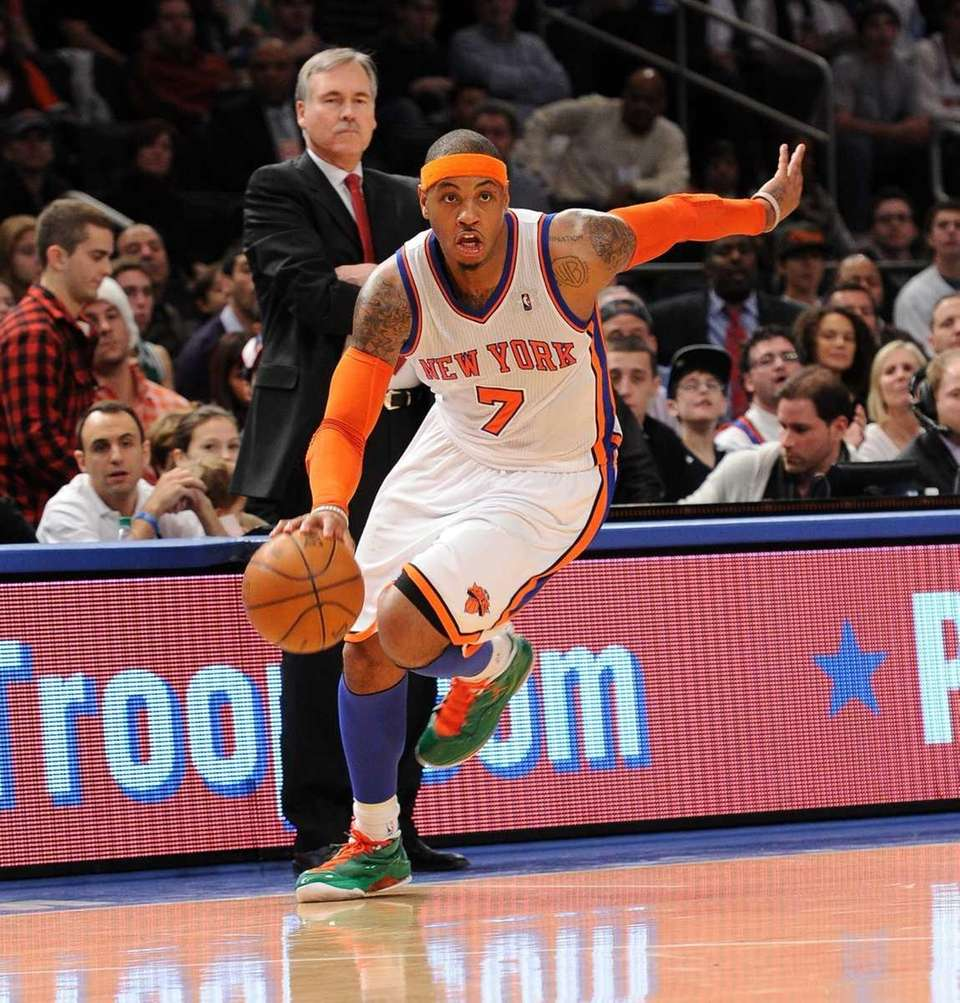 Carmelo Anthony scored 37 points on opening day,