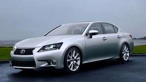 The 2013 line of Lexus GS sedans, including