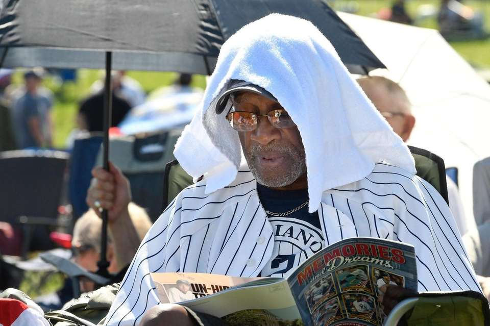 Mariano Rivera fan Eugenino Edwards, of New York