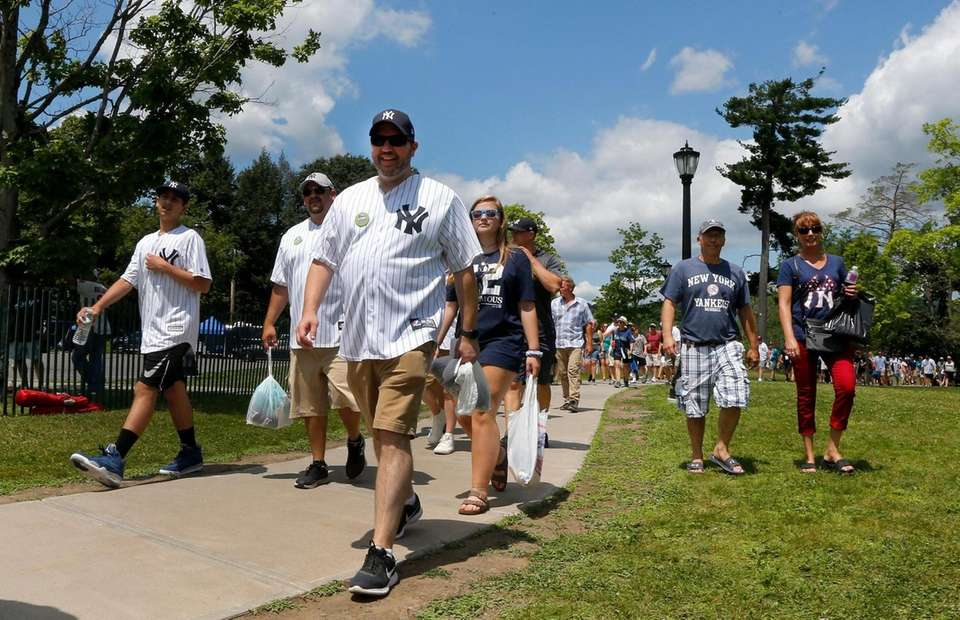COOPERSTOWN, NEW YORK - JULY 21: Baseball fans