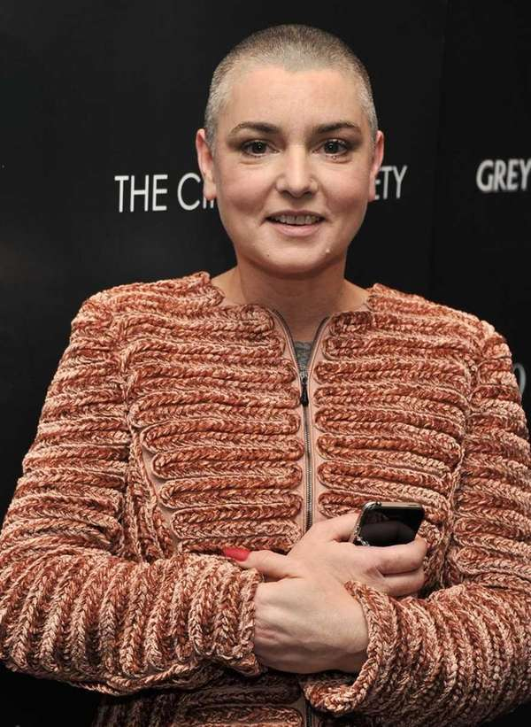 Singer Sinead O'Connor attends the Giorgio Armani &