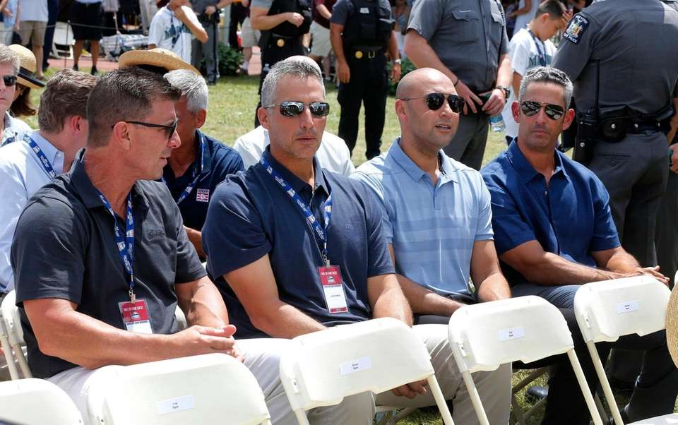 From left, former Yankees Tino Martinez, Andy Pettitte,