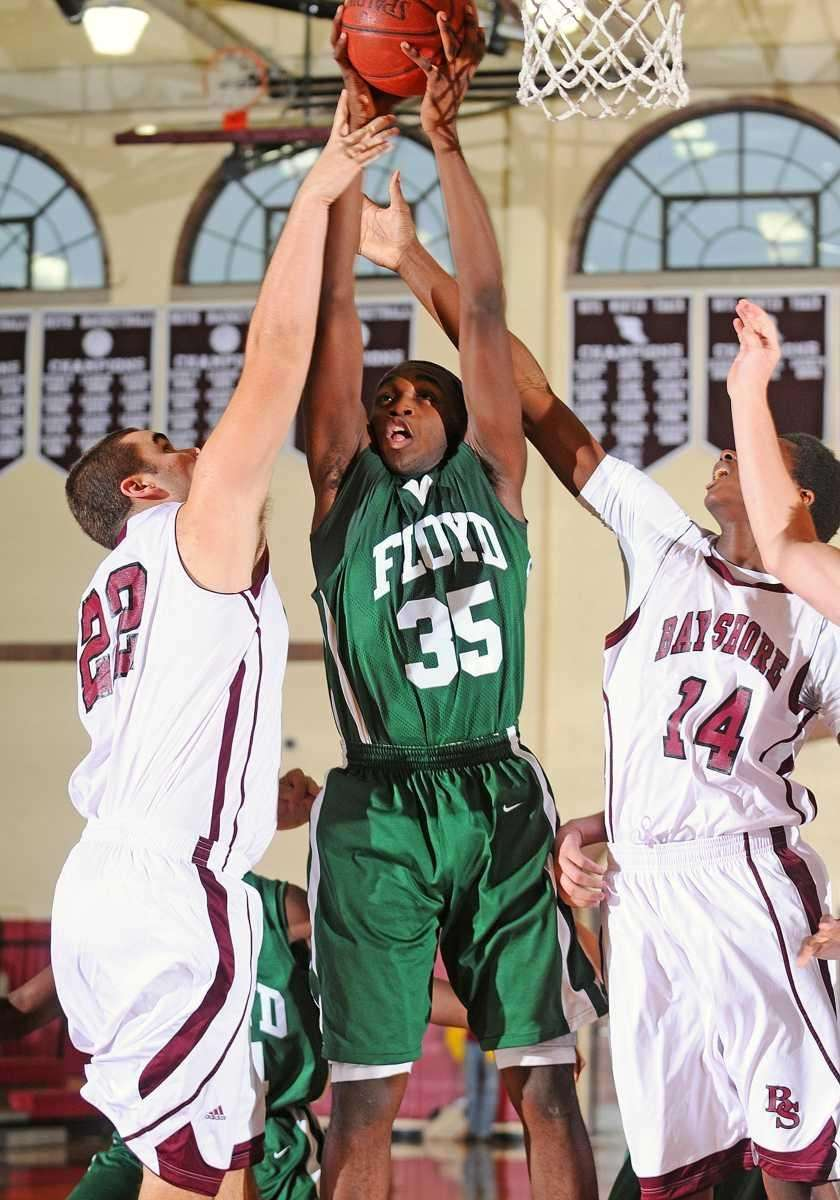 William Floyd High School senior #35 Anthony White.