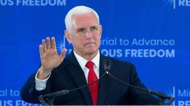 Vice President Mike Pence on Thursday.