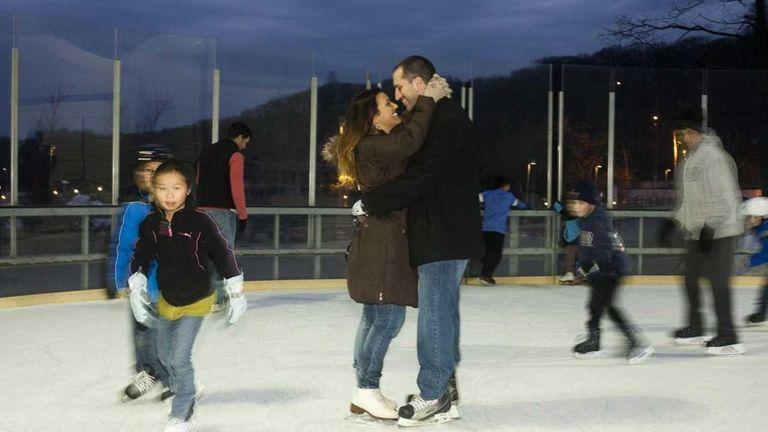 Amanda Goldman, 24, of Smithtown, and her boyfriend,