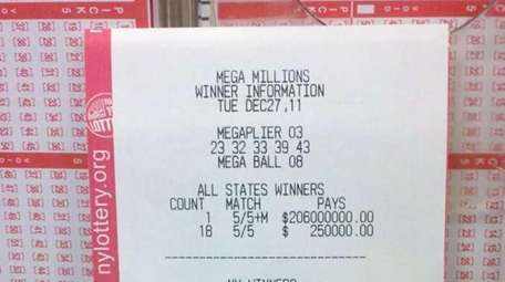 Winning numbers from the Dec. 27 Mega Millions