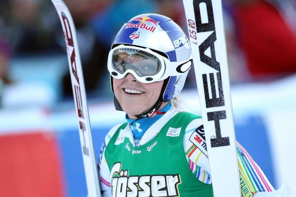 Lindsey Vonn of the USA smiles during the