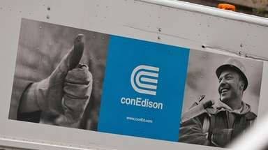 Con Edison crews were out in Brooklyn Sunday